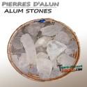 Alum stones
