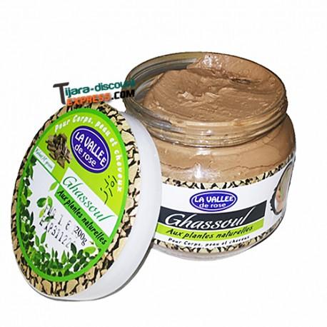 Ghassoul naturel vert (aux plantes naturelles)