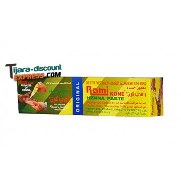Brown henna paste to the skin