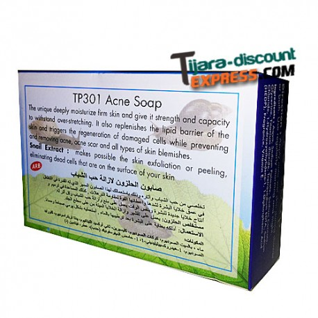 Acne soap with snail extract