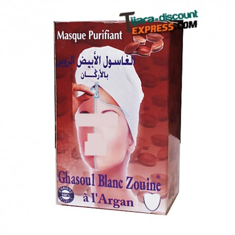 White ghassul with argan powder