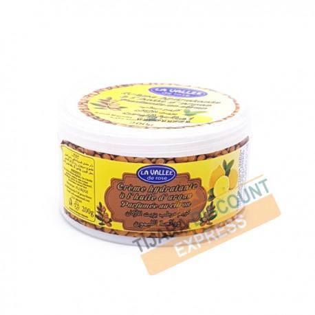 Crème hydratante à l'huile d'argan parfumée au citron
