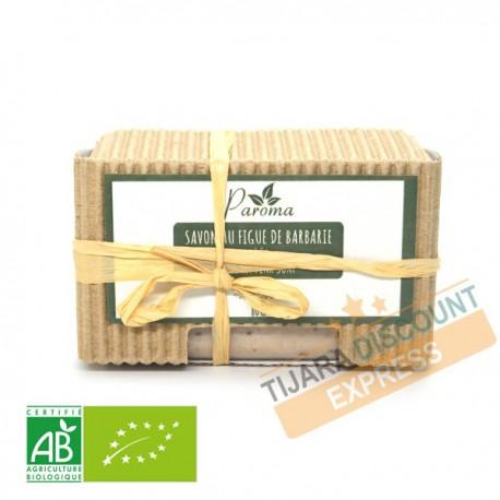 Savon artisanal à l'huile de graines de figue de barbarie bio
