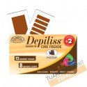 Cold wax strip (chocolate)