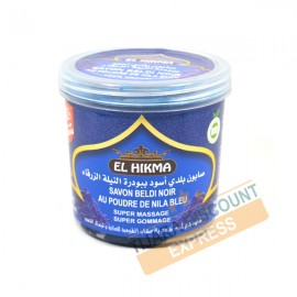 Beldi black soap with blue nila powder