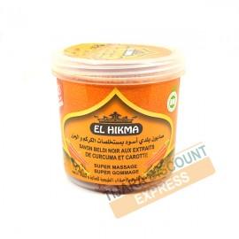 Savon beldi noir aux extraits de curcuma et carotte