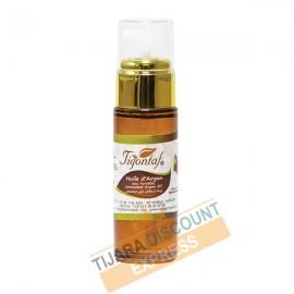 Huile d'argan bouteille verre avec spray doré (30 ml)