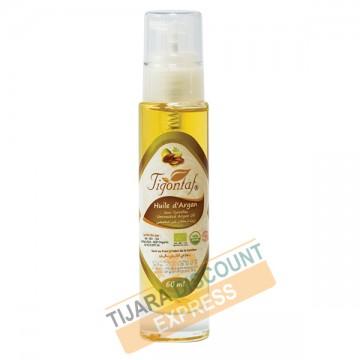 Huile d'argan bouteille verre avec spray (60 ml)