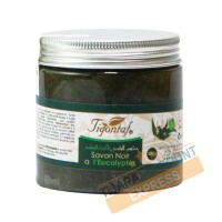 Natural black soap with eucalyptus essential oil (200g)