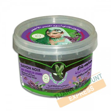 Black soap with lavender extracts