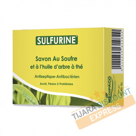 Sulfur soap and tea tree oil (80 g)