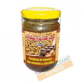Fenugreek jam with almonds and chocolates