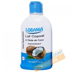 Lait corporel à l'huile de coco enrichi à la vitamine E
