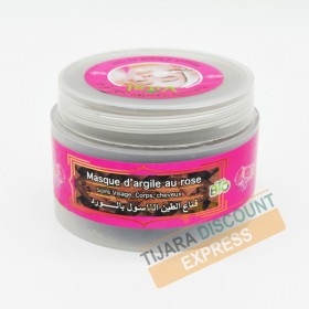 Clay mask with pink