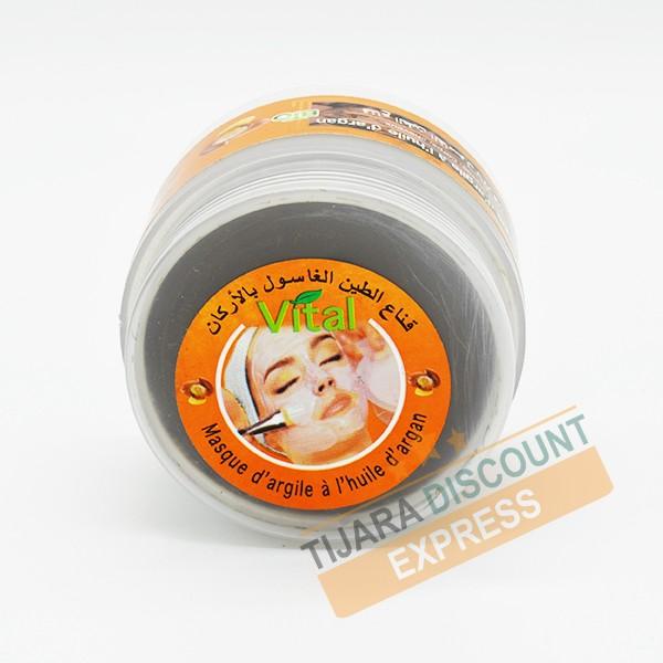 Masque d'argile à l'huile d'argan