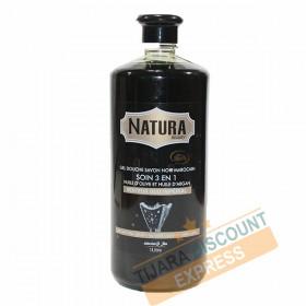 Gel douche savon noir marocain à l'huile d'olive, l'huile d'argan et au senteur de l'oud impérial et musc