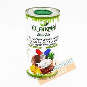 Huile de noix de coco à la kératine, collagéne et vitamine e