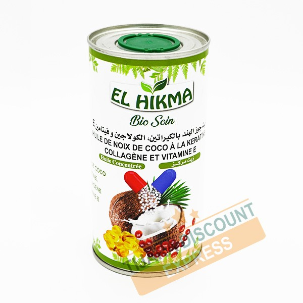 Coconut oil with keratin, collagen and vitamin E