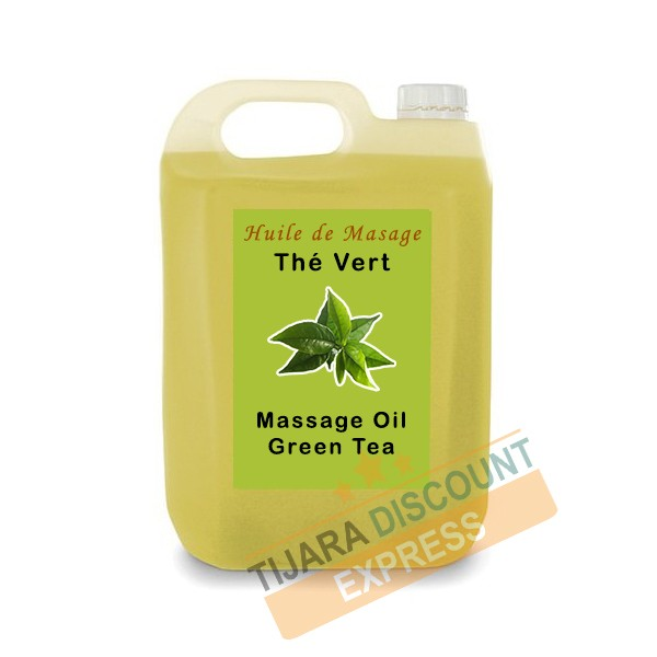 Green tea massage oil in bulk