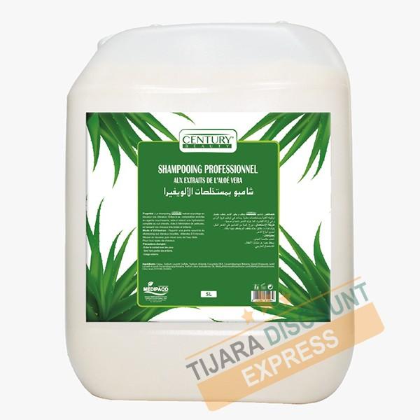 Shampoing professionnel aux extraits d'aloé vera (5L)