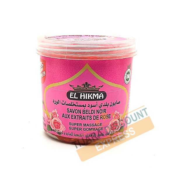 Beldi black soap with extracts rose
