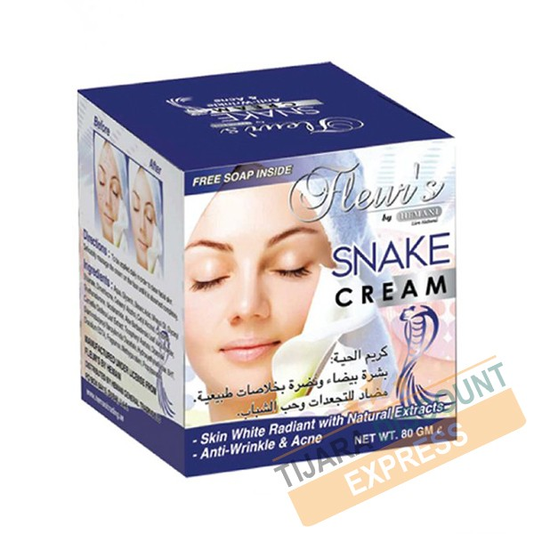 Crème à l'huile de serpent