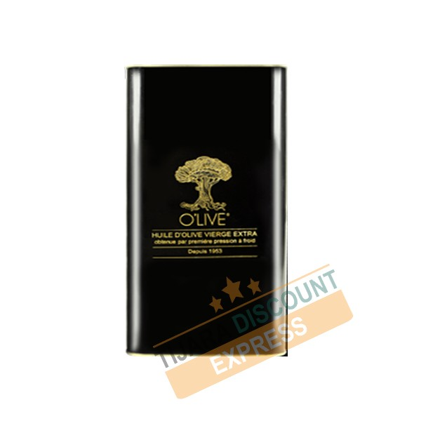 Huile d'olive extra vierge 5L emballage Métal