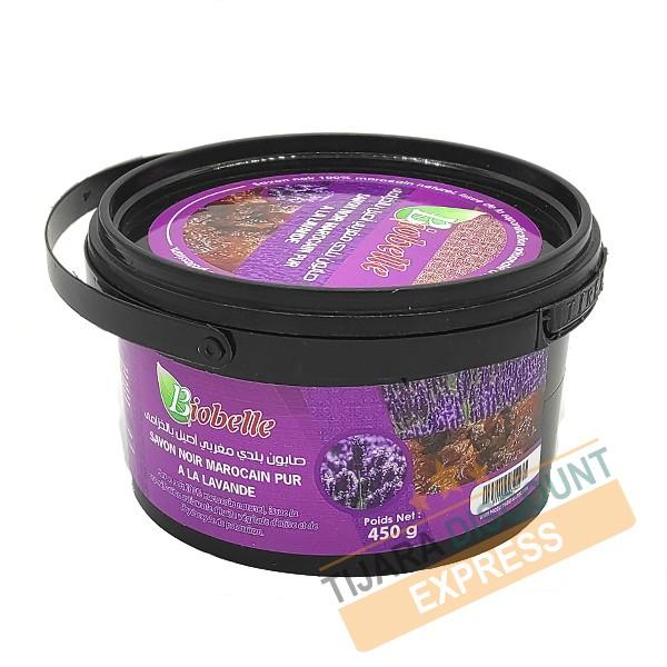 Pure Moroccan black soap with lavender