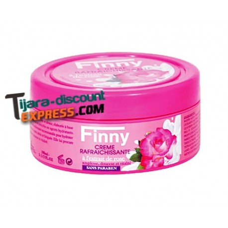 Skin cream with extract rose